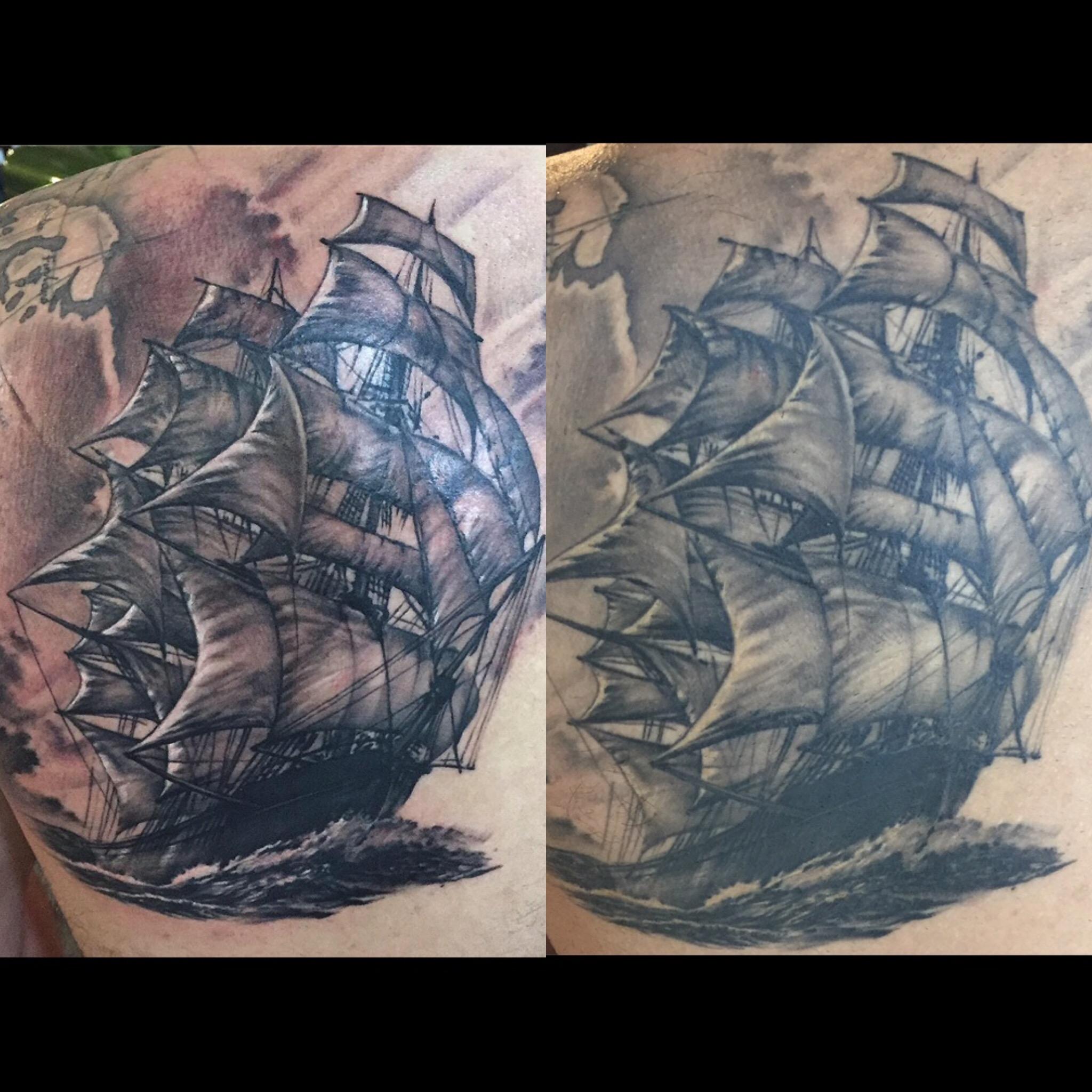 A ship tattoo
